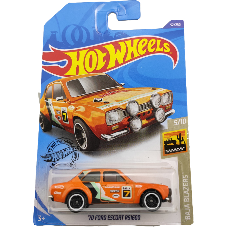 2020-52 Hot Wheels 1:64 Car 70 FORD ESCORT RS1600 Metal Diecast Model Car Kids Toys Gift