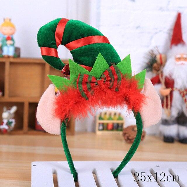 Bowknot Christmas Headband Santa Xmas Party Decor Hair Band Clasp Head Hoop SS