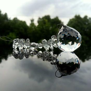 Jasne kryształy wisiorki z koralików DIY kryształy do żyrandola pryzmaty Suncatcher lampa część akcesoria rzemiosło ozdobne Home Decor 140mm tanie i dobre opinie X616