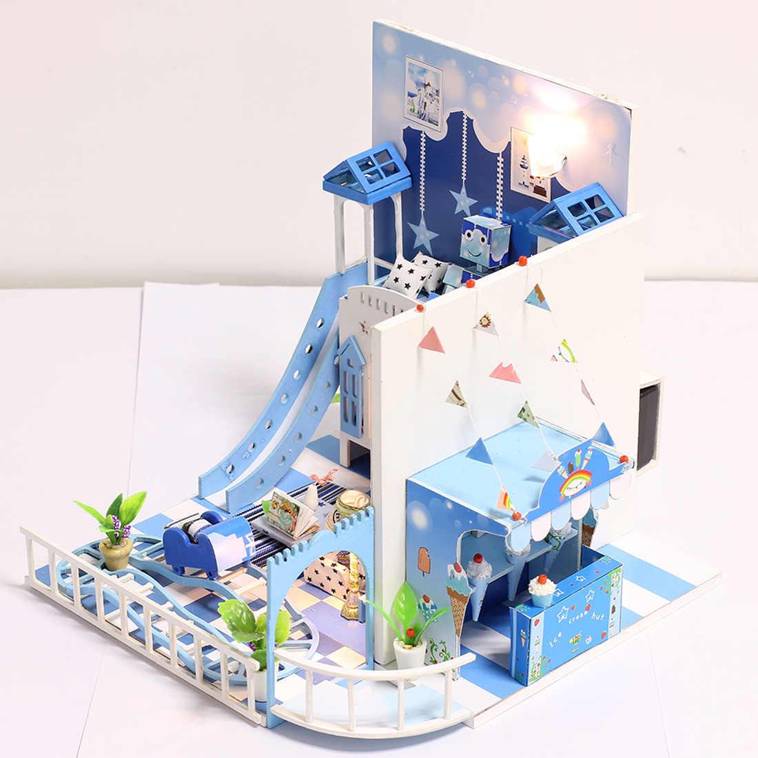 DIY креативный ручной работы Тема деревянная кабина сборка модель здания игрушка набор-детство