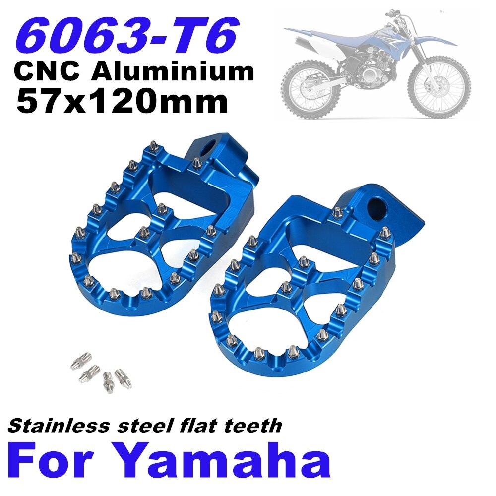 Pour Yamaha YZ 85 125 250 250FX WR 250 R X WR 450 F YZ125 FZ CNC repose-pieds moto large pédale repose-pieds larges billette D40