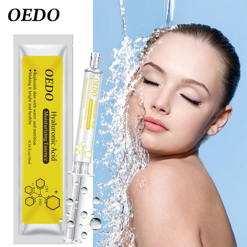 OEDO Shrink Pore Hyaluronic Acid Serum Facial Moisturizing Essence Natural Ingredients Face Skin Care Nourishing Ageless Beauty