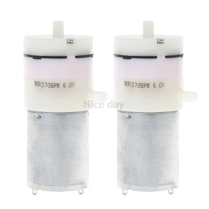 2x DC 3V-6V 5V 370 Motor Micro Mini Air Pump Vacuum For Aquarium Tank Oxygen F16 20 Dropship