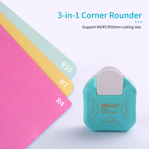 KW-trio 3-in-1 Corner Rounder Punch R4/R7/R10mm Round Corner Trimmer Cutter for Card Photo Paper Laminating Pouches