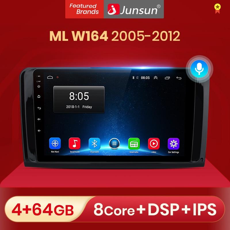Junsun V1 pro 2G + 32G Android 10 para Mercedes ML W164 GL GL320 ML350 ML500 X164 GL350 GL450 2005 - 2012 auto Radio Multimedia DVD