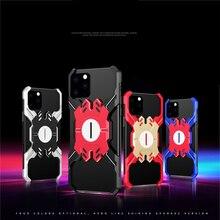 Aluminium Metalen Bumper Case voor iPhone 11 Pro Max XR X Xs Hero Elements Dunne Shockproof Framless Case voor iPhone 7 8 6 6s Plus