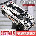 MOC 4789 Technic Koenigsegged супер спортивная модель гоночного автомобиля Гоночная машина совместимая 23002 строительные блоки кирпичи