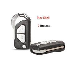 Чехол для автомобильного ключа Kutery 10 шт./лот для Citroen DS3, пустой чехол для ключа с 2 кнопками VA2