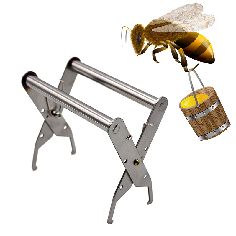 1 Pcs Bee Hive Frame Holder Stainless Steel Capture Frame Grip Beekeeping Accessories Increase Honey Bee Tools