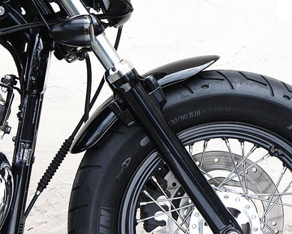 Motorcycle Metal Short Front Fender Mudguard  For 2010-2017 Harley Sportster 48 XL1200X 1200