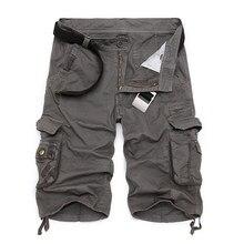 Shorts cargo en coton décontractés pour hommes, pantalons camouflages cool, confortables, vêtements d'été de marque, vente chaude