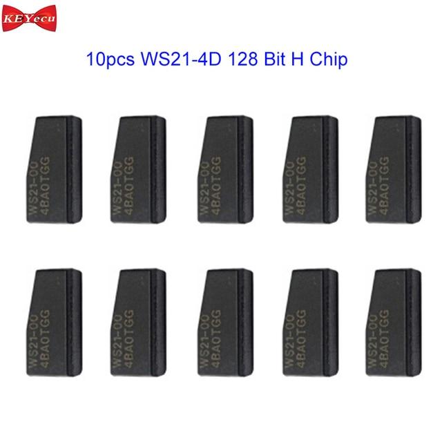 KEYECU 10pcs WS21 4D 128 Bit H Chip Car Key Transponder Chip for Toyota 2013 2017 Tango
