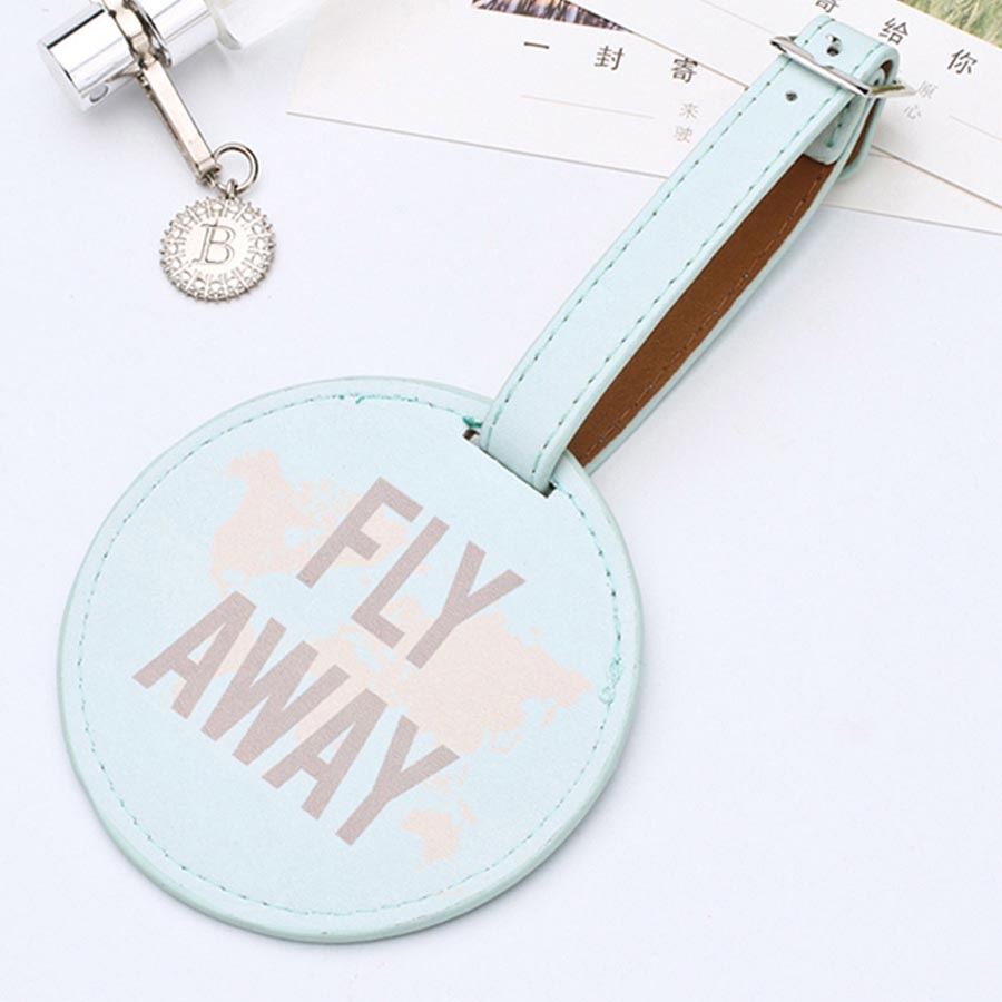 Sales Leather Round Suitcase Luggage Tag Label Bag Pendant Handbag Travel Accessories Name ID Address Tags LT01B