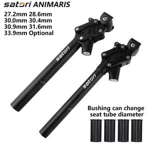 Image 1 - Satori bicicleta de amortecimento selim mountain bike seat post 27.2/28.6/30.0/30.4/30.9/33.9/31.6mm * 350mm forjamento/al6061 selim preto