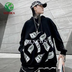 Image 3 - 2019 Dropshipping Cặp Đôi Áo Hoodie Nam Đồng Đô La In Thu Đông Hip Hop Lớn Khoác Harajuku Dài Tay Áo