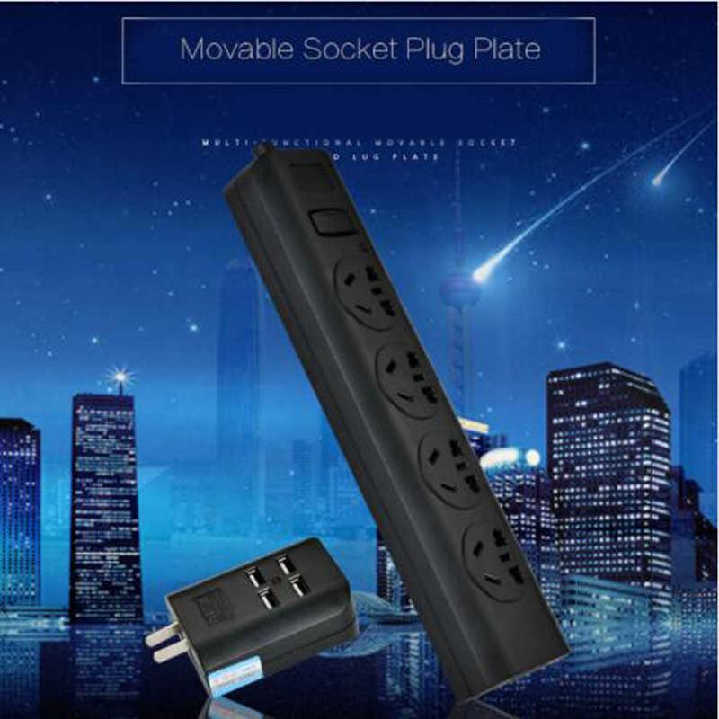 1.8M przedłużacz listwa zasilająca 4 porty USB do ładowania szybkie ładowanie inteligentne gniazdo wtyczka jakości konwerter zasilania Adapter