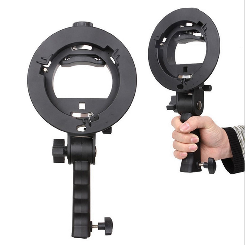 Gosear Portable S-type Flash Bracket Mount Stand with Handle for Canon Nikon YonNuo Godox Bowens Softbox Radome Dish Umbrella