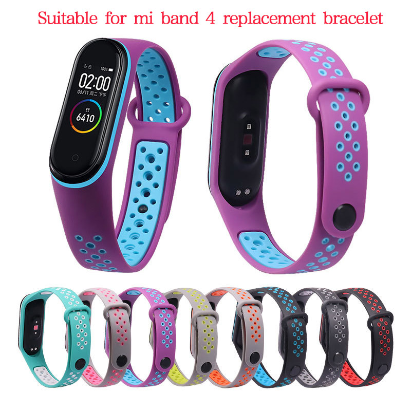 Watchband for Xiaomi Mi Band 3 4 Bracelet Watchband Replacement Watch Strap for Mi Band 4/3 Correa Silicone Bracelet Wriststrap