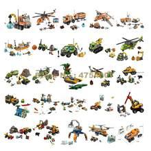 Camion, hélicoptère, forêt de Jungle, arctique, camion, perceuse de voiture, vidage, avion de Camp, grue à glace, bateau, véhicule, jouet