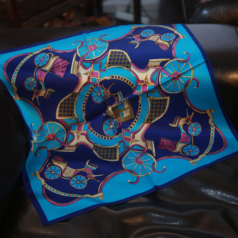 New Silk Scarves Mulberry Silk Navy Blue