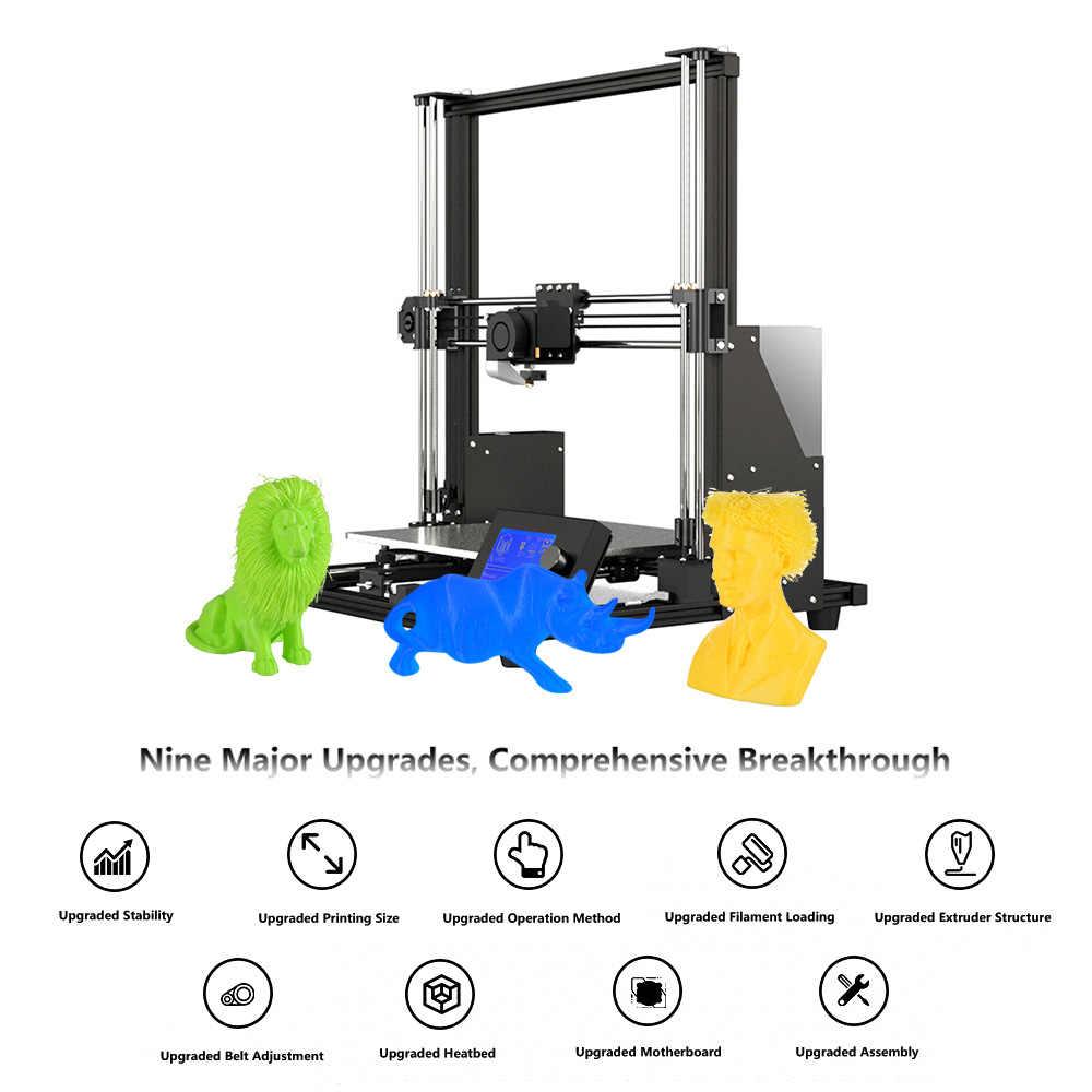 300*300*350mm Anet A8 Plus 3D Kits de impresora de alta precisión de fácil montaje de aleación de aluminio marco mejorado filamento cargando impresora
