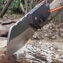 白檀ハンドル戦術ストレートナイフD2シャープ刃ナイフこだわりキャンプサバイバル屋外と日常のキャリー
