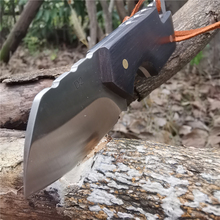 Sandalwood Handle Tactical Straight Knife D2 Sharp Blade Knives Good for Hunting Camping Survival Outdoor and Everyday Carry