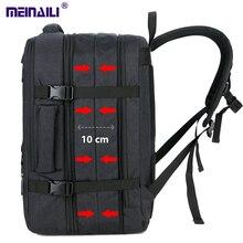 30L büyük uzay erkek 17 inç dizüstü sırt çantaları USB şarj erkek su geçirmez seyahat Mochila çok katmanlı yüksek kapasiteli sırt çantası
