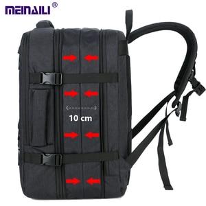Image 1 - 30l grande espaço masculino masculino de carregamento usb mochilas portáteis de 17 polegadas mochila de viagem à prova dmulti água multi camada de alta capacidade bagpack