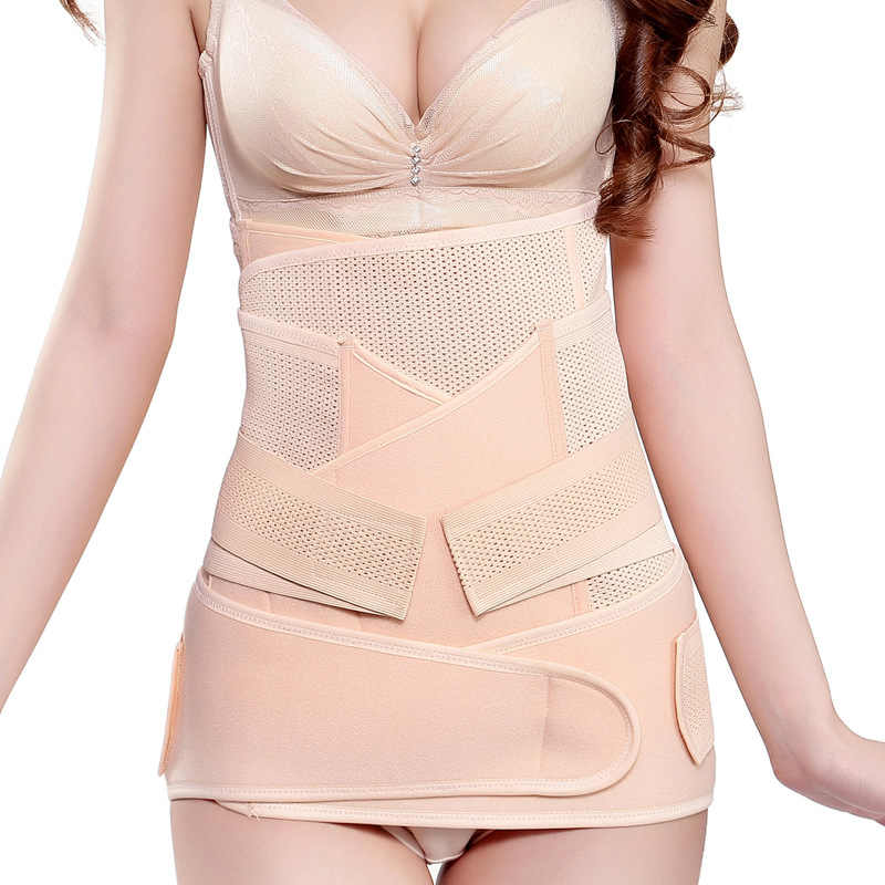 3 Pieces/Set Postnatal After Pregnancy Belt Postpartum Bandage Postpartum Belly Band for Pregnant Women Shaper Plus Size