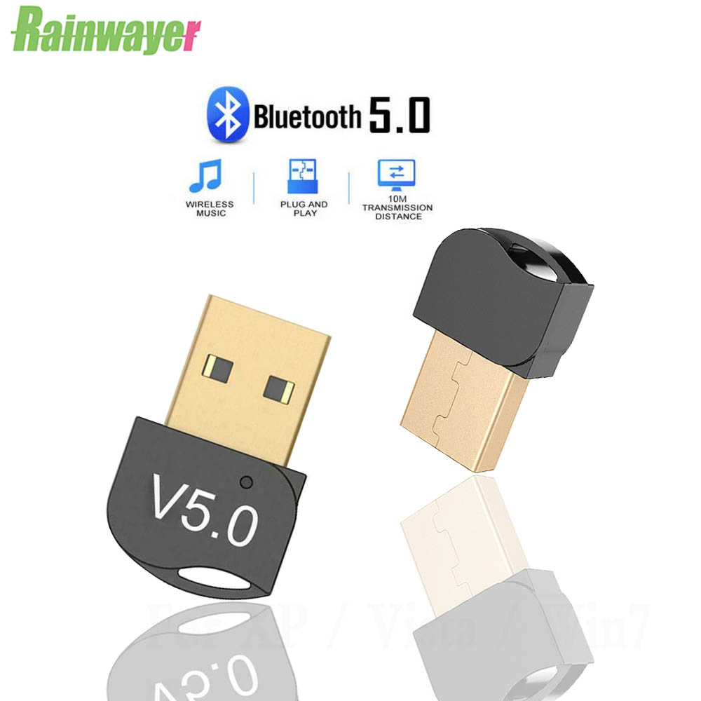 USB Bluetooth 5.0 Stereo Audio Adapter Wireless Transmitter Receiver For PC Win 10 8 7/XP PC Adapter BT5.0 Dongle Mini Adapter