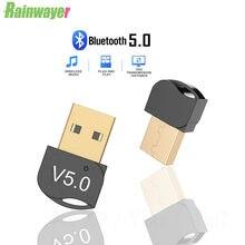 Usb bluetooth 5.0 adaptador de áudio estéreo receptor transmissor sem fio para pc win 10 8 7/xp adaptador para computador bt5.0 dongle mini adaptador