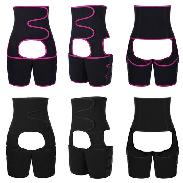 Neoprene Slim Thigh Trimmer Leg Shapers Slimming Belt Waist Trainer Sweat Shapewear Fat Burning Compress Belt 3