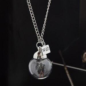 Хрустальное ожерелье в виде хрустального одуванчика, прозрачные круглые подвески, ожерелья, цепи, колье-чокер для женщин, подарок