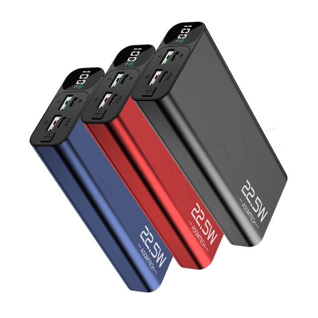 Power Bank 20000mAh QC PD 3.0 PoverBank szybka ładowarka do telefonu szybka ładowarka przenośna zewnętrzna bateria USB do iPhone Xiaomi Huawei