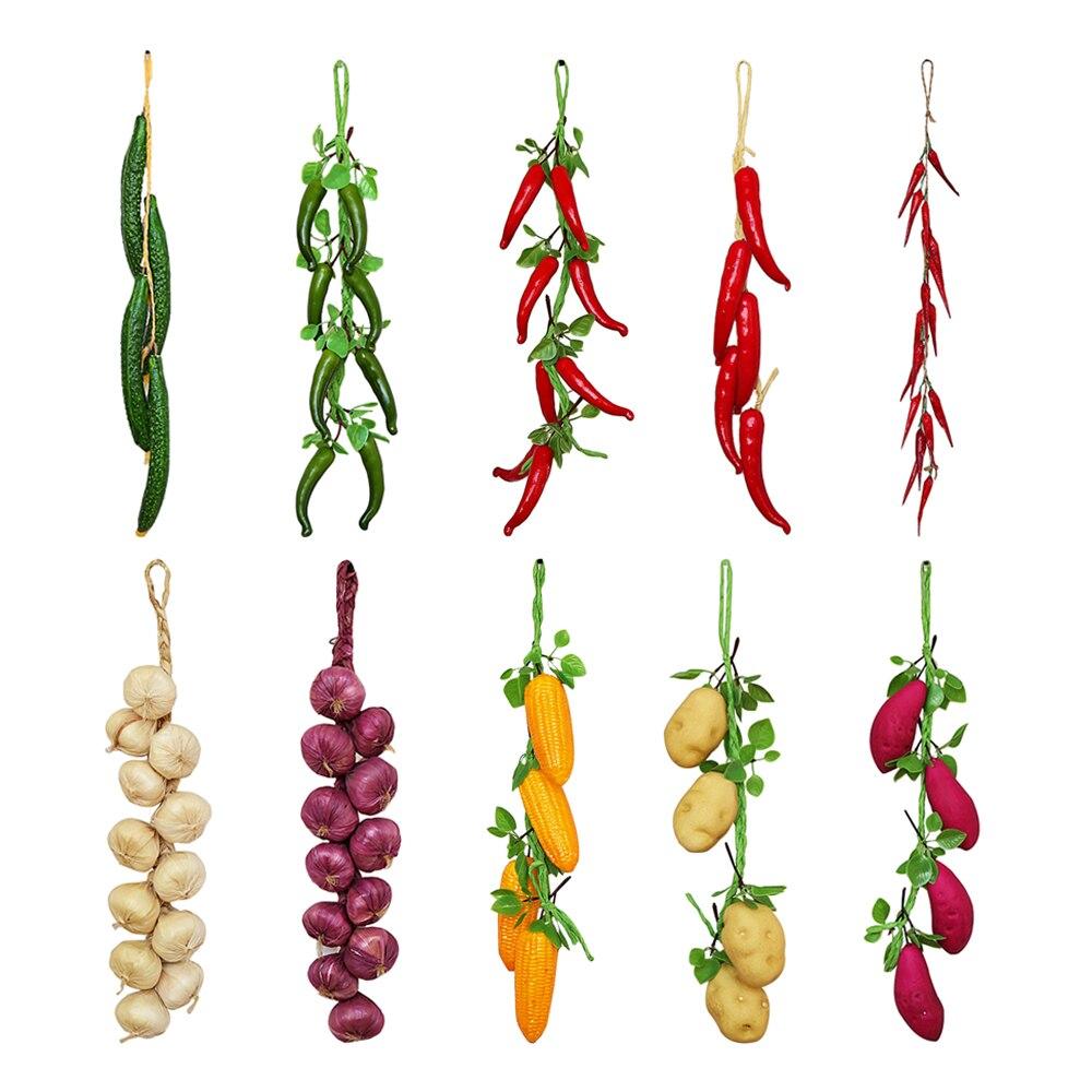 2019 New Artificial Simulation Food Vegetables Fruits PU Red Pepper Fake Lemon For Home Restaurant Kitchen Garden Art Decoration