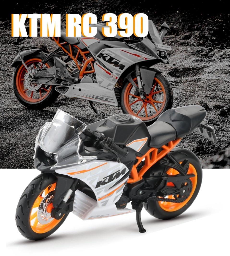 Toy KTM RC 390 Motorbike 11x3x6 cm 37