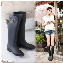 Fashion women's high tube fit buckle riding boots Knight boots equestrian equipment PVC material