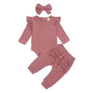 3PCS Baby Girl Top Pants Suit with Headress Cute Halloween Outfit baby boy clothes carters baby girl clothes roupa bebe