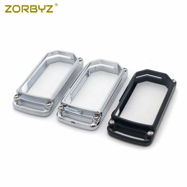 ZORBYZ Black/Chrome/Gray CNC Key Cover Case For Ducati Diavel Multistrada 1200/1200S 2010-2014