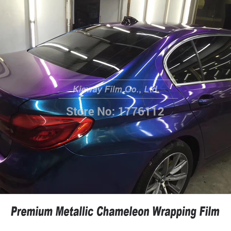 Highest Quality Pearl Gloss Metallic Chameleon Vinyl Car Wrap Styling Shift Blue - Purple Foil  5ft X 59ft/Roll Multicolor