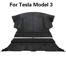 2X Car Rear Trunk Soundproof Cotton Mat For Tesla Model 3 Soundproof Deadening Protective Cover Sticker for Model3 Accessories