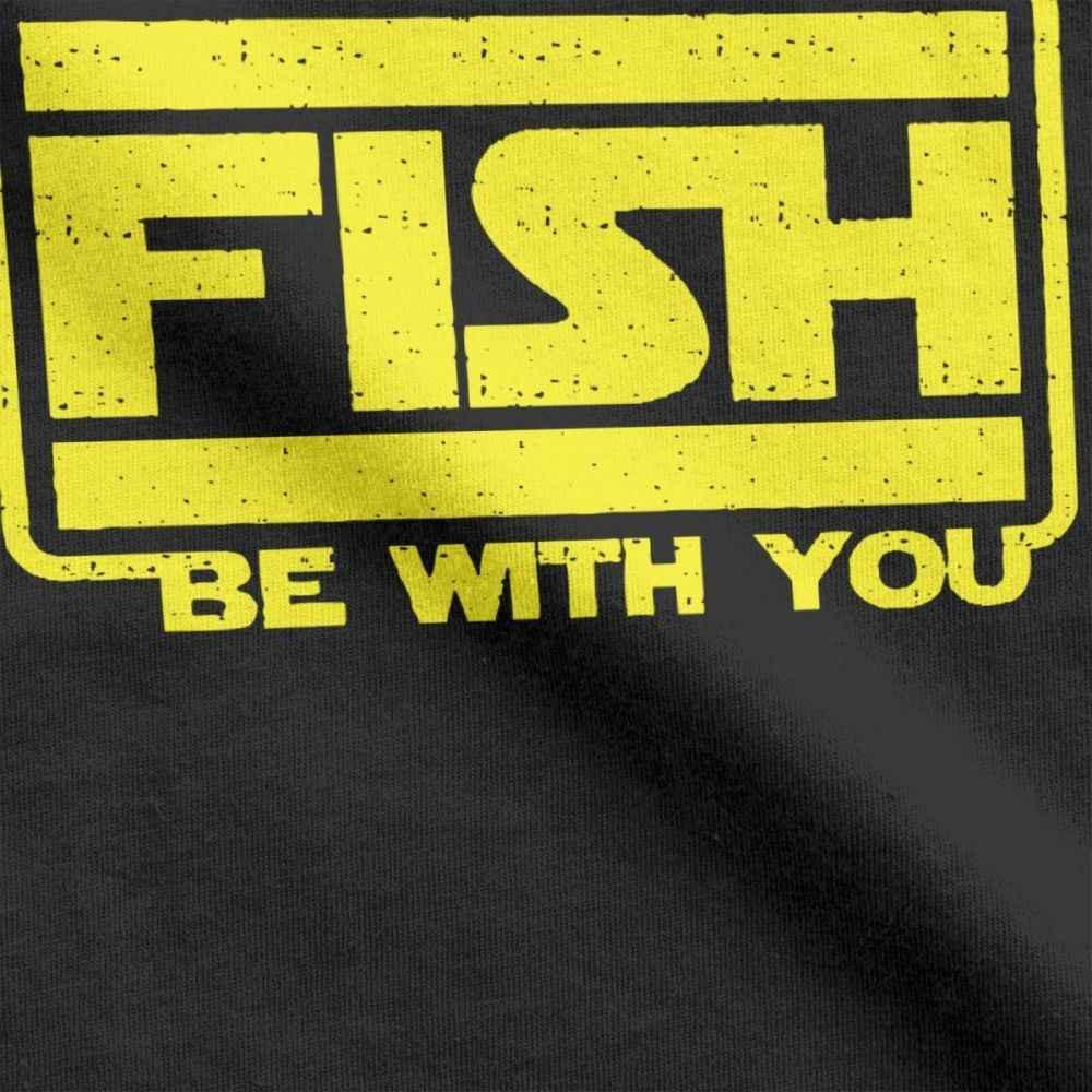 One yona ผู้ชาย T เสื้อปลา Be With You ตลกแขนสั้น BASS ตกปลาน้ำแข็ง Fisher Tees ลูกเรือคอ Tops ผ้าฝ้ายฤดูร้อนเสื้อยืด