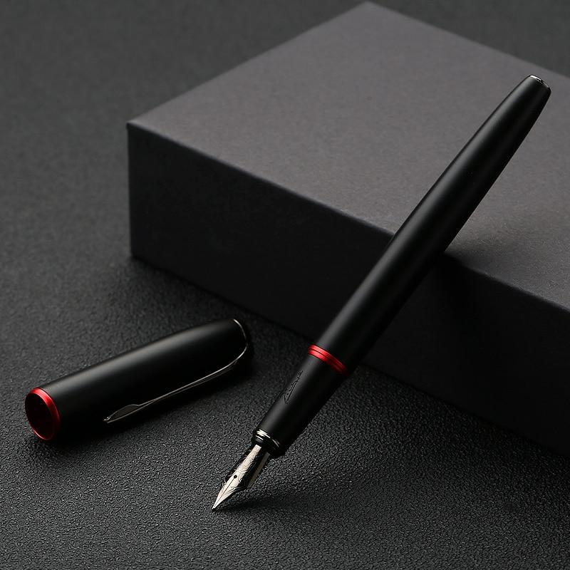 Перьевая ручка Picasso 916 Malage, металлическая чернильная ручка EF/M/изогнутое перо 0,38/0,6/1,0 мм, матовый корпус, модная деловая ручка, новая версия