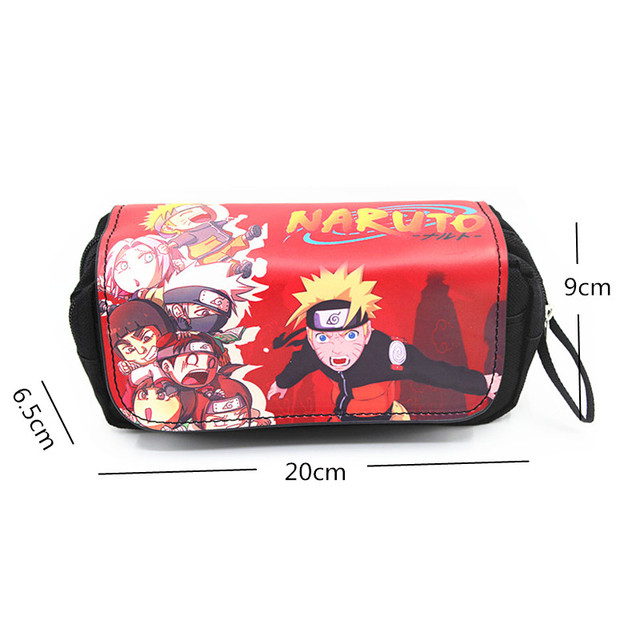 Anime Japanese Cartoon  Attack on Titan Tokyo Ghoul Kids Pencil Bags Make Up Case For Women With Handle 2