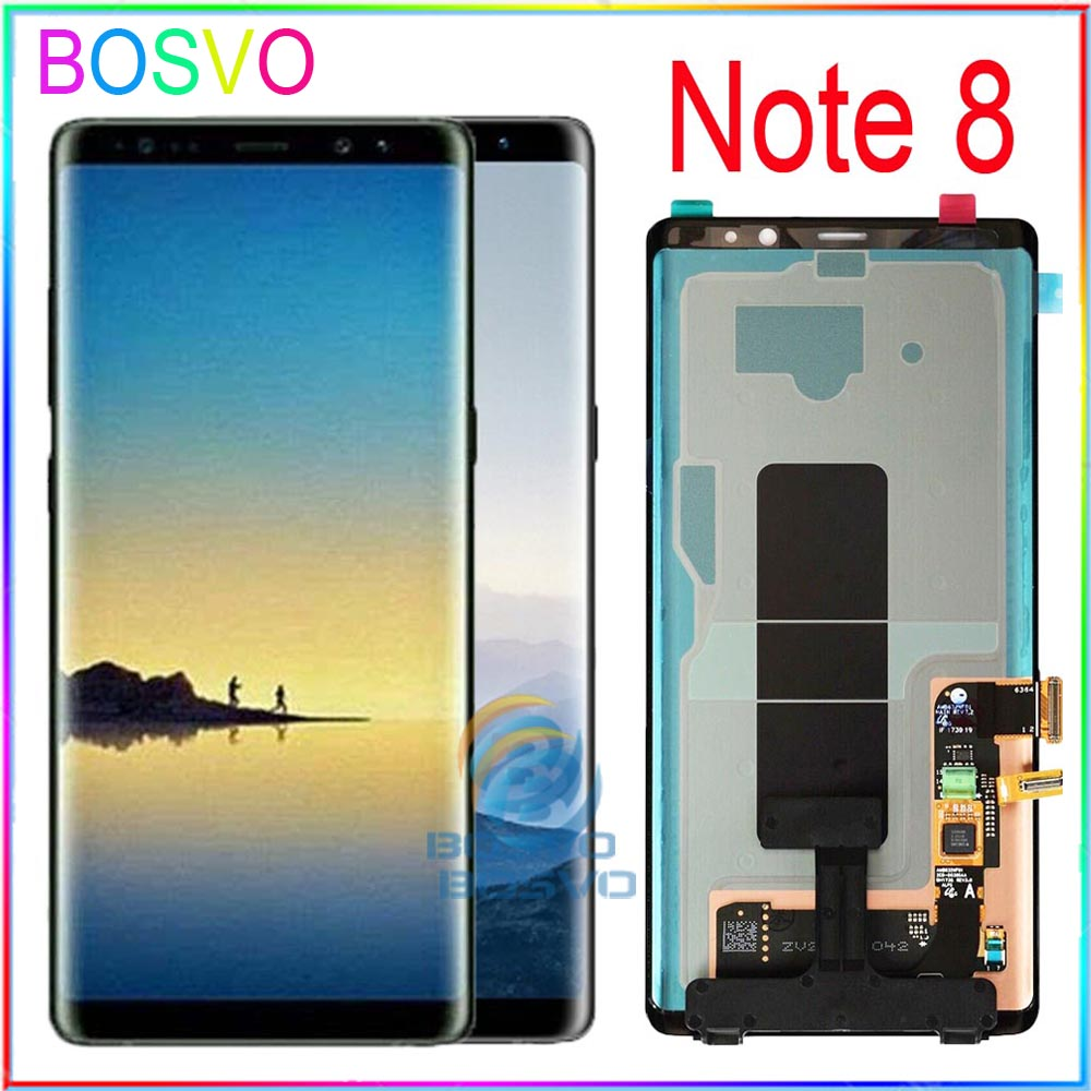 <font><b>For</b></font> <font><b>Samsung</b></font> <font><b>Note</b></font> <font><b>8</b></font> LCD note8 N950 <font><b>N950F</b></font> Display <font><b>Screen</b></font> with Touch digitizer with frame assembly Replacement Parts image