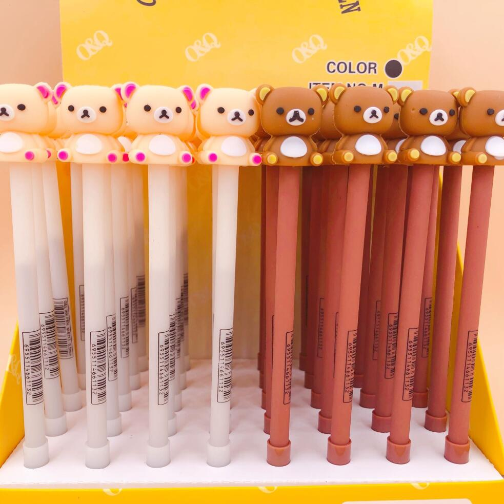 2 Pcs/lot Rilakkuma Baby Gel Pen Signature Pen Escolar Papelaria School Office Supply Promotional Gift