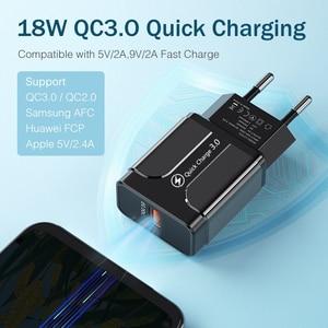 Image 4 - Evrensel 18W USB hızlı şarj 3.0 iPhone Huawei Xiaomi ab abd duvar adaptörü Android cep telefonu hızlı şarj cihazı Samsung S8
