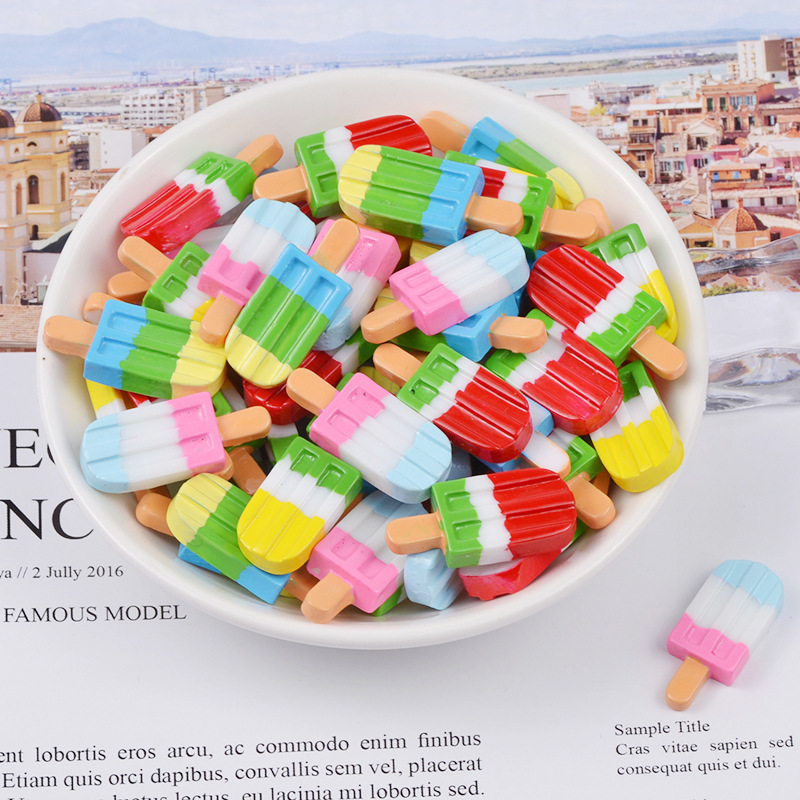 Resin Ice Cream For Fluffy Slime Tricolor Charms DIY Filler Addition All For Slimes Modeling Clay Supplies Kit For Children