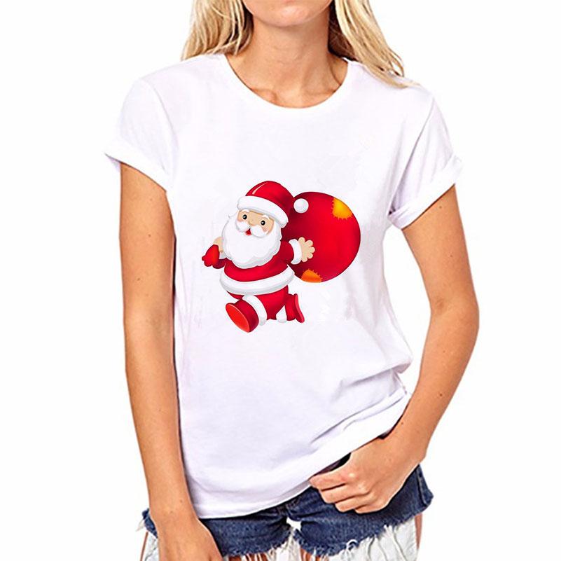 Harajuku Fashion Women Tshirt Casual Kawaii TShirt Satan Merry Christmas   T     Shirt   Tops Femme Blusas Short Sleeve Funny   T     Shirts